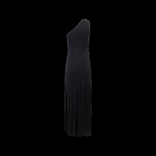 Black One-Shoulder Gown