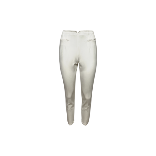 Alvin Valley White Cropped Trousers