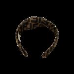 Brown FF Motif Foulard Headband
