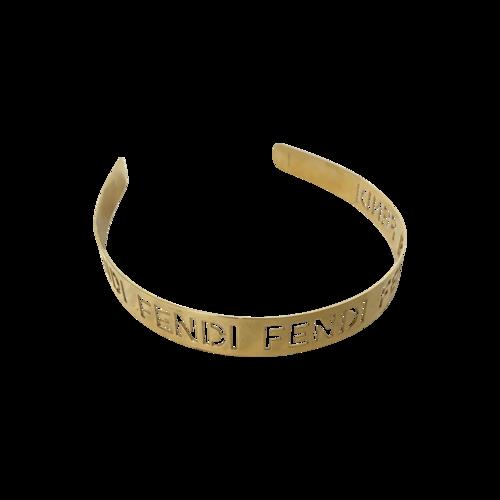 Fendi Gold Logo Metal Signature Headband