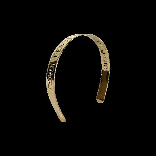 Gold Logo Metal Signature Headband