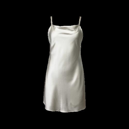 "Alice + Olivia Off White ""Harmony"" Drapey Mini Slip Dress"