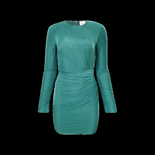 Herve Leger Bright Elm Green Ruched Mini Dress