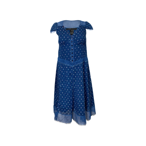 Marc Jacobs Blue Floral Embroidered Dress