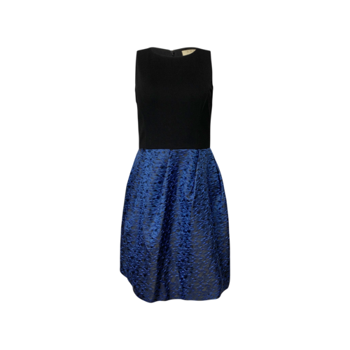 ERIN Erin Fetherston Blue Patterned Dress w/ Black Bodice