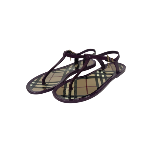 Burberry Classic Check Pattern Jelly Sandals