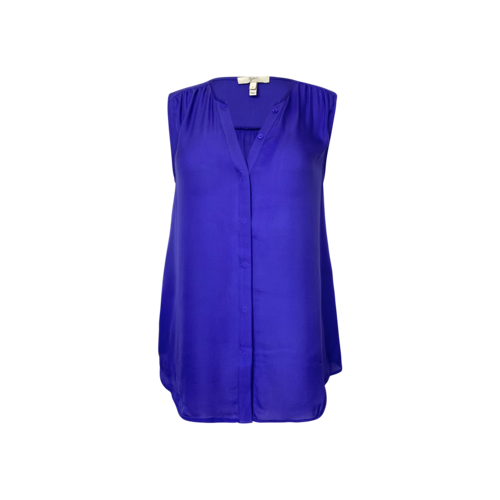Joie Blue Sleeveless Silk Top