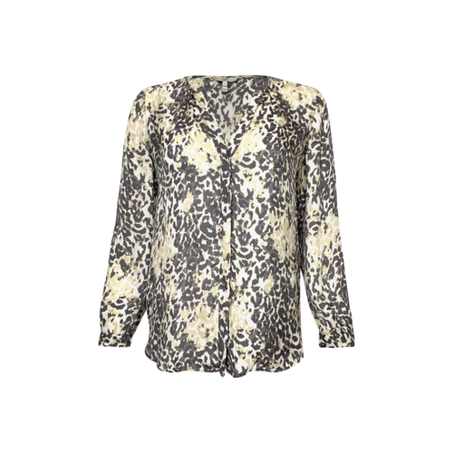 Joie Leopard Print Silk Top