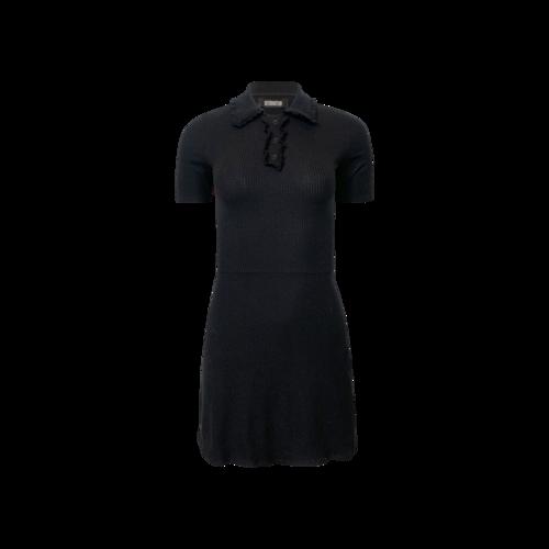 Reformation Black Polo Dress
