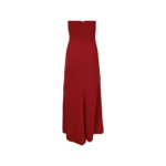 Red Strapless Gown w/ Sheer V-Cut Detail