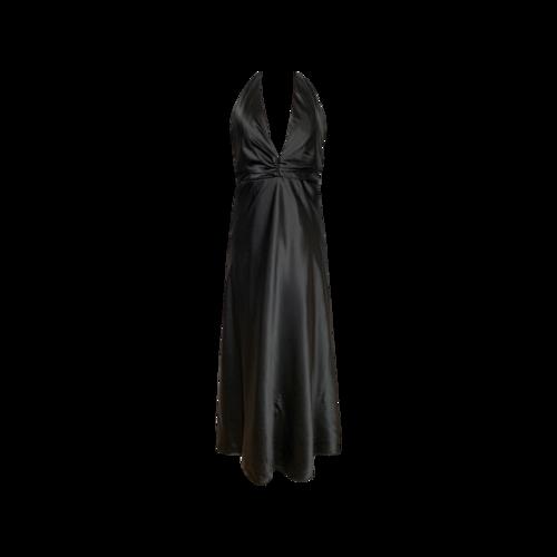 Vintage Studio 17 Black Halter Neck Gown
