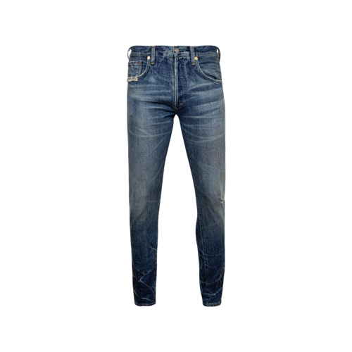 """Citizens of Humanity Blue """"Rowan"""" Relaxed Slim Jeans"""