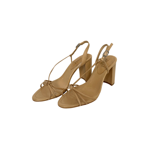 Schutz Nude Strappy Leather Sandals