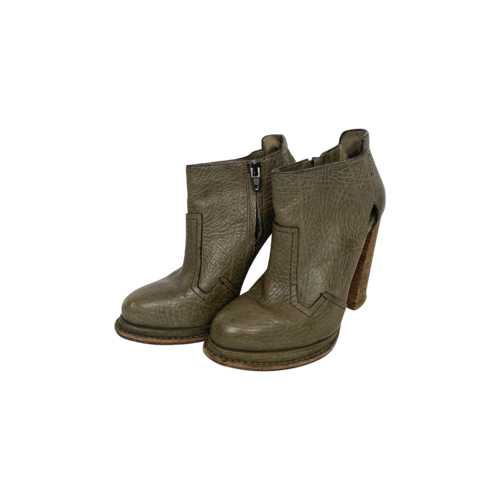 Alexander Wang Green Leather Ankle Boots