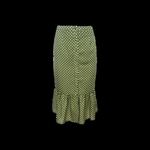 "Tularosa Mint Green Polka Dot ""Molina"" Skirt"