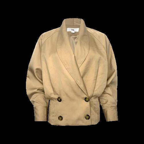 """LPA Khaki """"Ezra"""" Button Front Jacket"""