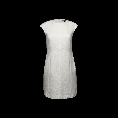 "Theory White ""Ancua"" Cap-Sleeve Dress"