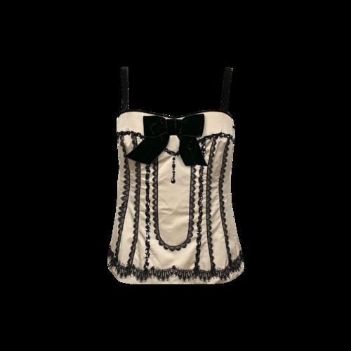 Nanette Lepore Beige Corset Top w/ Lace Details