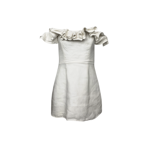 "Reformation White Off-the-Shoulder ""Coral"" Dress"