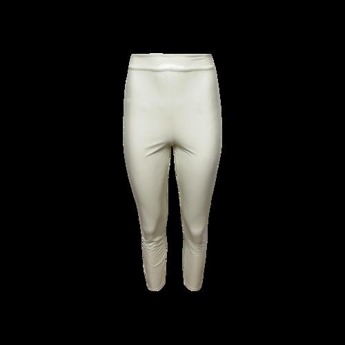 LPA White Faux Patent Leather Pants
