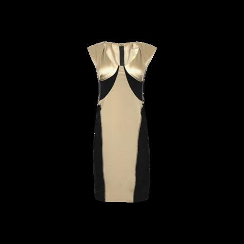 Rachel Roy Black and Gold Panel Body-Con Dress