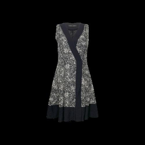 Proenza Schouler Black Splatter-Print Wrap Dress