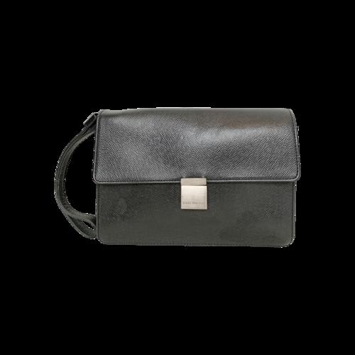 "Louis Vuitton Black ""Tagia"" Wristlet Clutch"