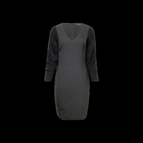 Badgley Mischka Black Sweater Sleeves Dress