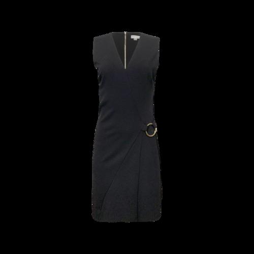 Calvin Klein Black V-Neck O-Ring Dress