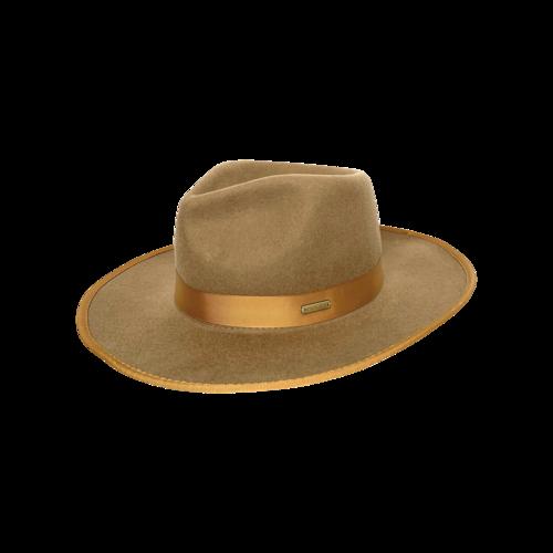 "Gigi Pip Brown ""Monroe"" Rancher Wide Brim Hat"