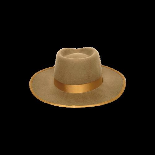 """Brown """"Monroe"""" Rancher Wide Brim Hat"""