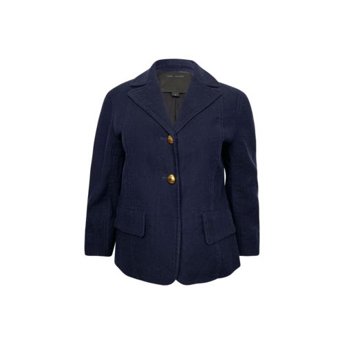 Marc Jacobs Navy Blue Cropped Sleeves Jacket