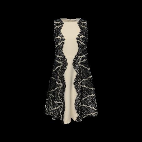 """Diane von Furstenberg """"Daniella"""" Black Lace Panel Dress"""