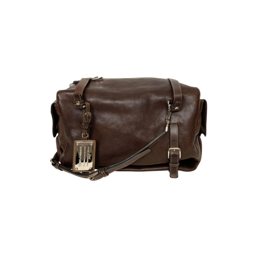 """Dolce & Gabbana Brown Leather """"Miss Forever"""" Duffle Style Bag"""