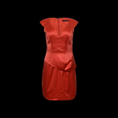 Black Halo Pink Satin Dress