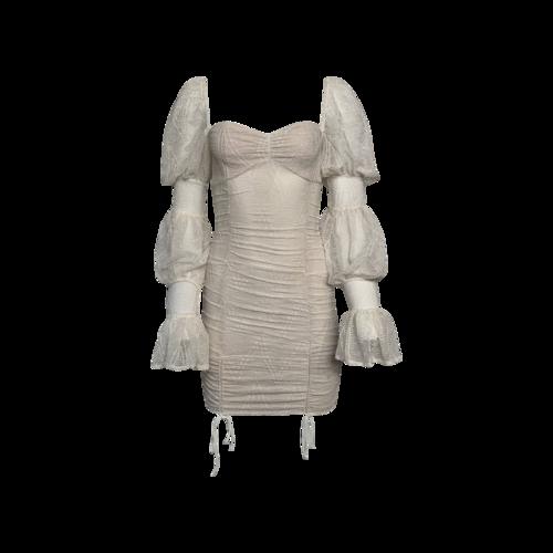 "Michael Costello White ""Isadora"" Mini Dress"