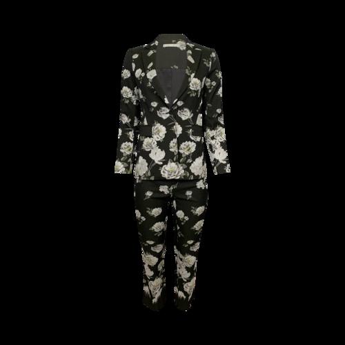 Alice + Olivia Floral Pattern 2-Piece Blazer and Pants Set