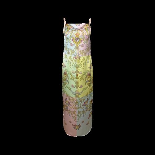 "Versace Multi-Color ""Cameo"" Print Dress"