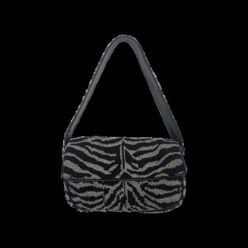 STAUD Tommy Beaded Zebra Bag