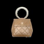 Beige Lucite Ring Mini Flap Bag