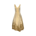 Gold Structured Gown