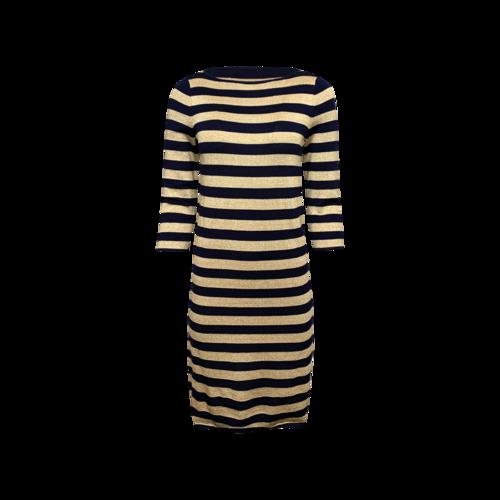 Ralph Lauren Gold and Navy Striped Knit Dress