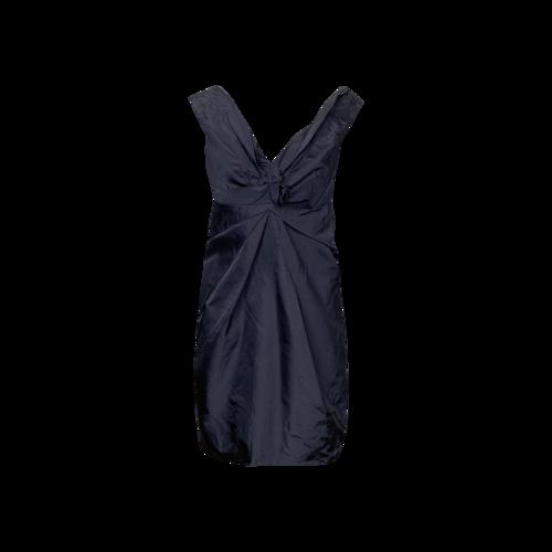 Marc Jacobs Navy Blue Front Cinch Silk Dress
