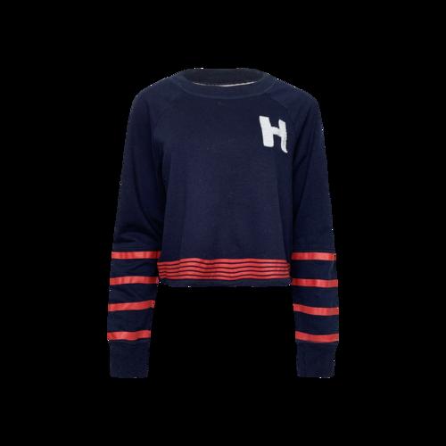 "Tommy Hilfiger Navy Blue Hilfiger ""H"" Varsity Sweater"