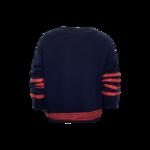 "Navy Blue Hilfiger ""H"" Varsity Sweater"