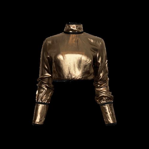 """Bohn Jsell Metallic Bronze """"Metropolitan"""" Blouse"""
