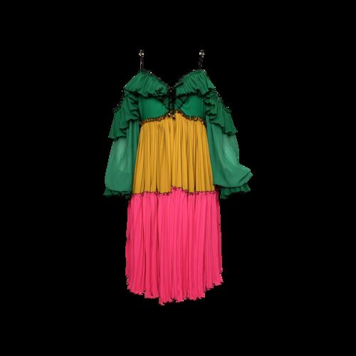 "Bohn Jsell Multi-Color ""Tropicala Day"" Dress"