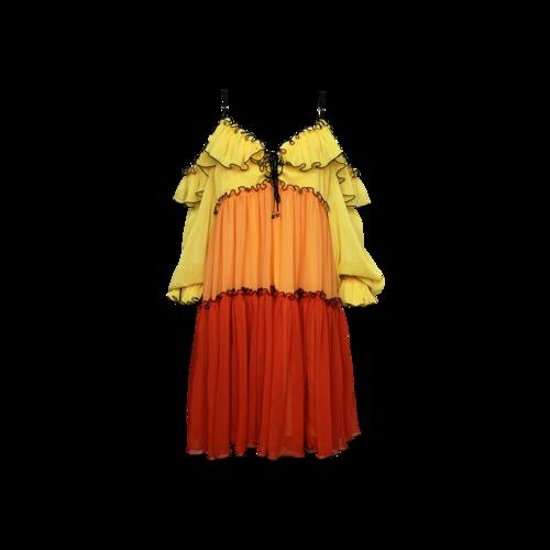 """Bohn Jsell Multi-Color """"Tropicala Sunrise"""" Dress"""