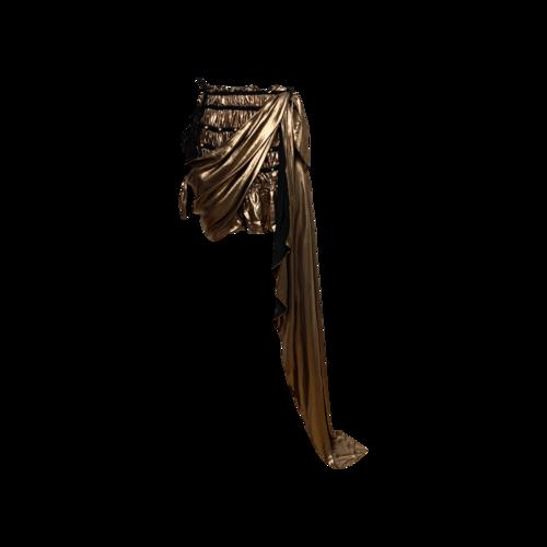 "Bohn Jsell Metallic Bronze ""Prima Godess"" Toga Skirt"