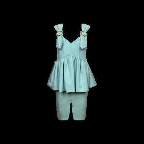 Bohn Jsell Blue Versailles Empire Sheath Dress
